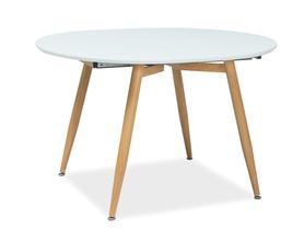 Rozkładany stół Avon 120(200)x100 biel/dąb mdf/płyta laminowana/metal Signal
