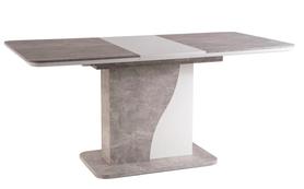 Rozkładany stół Syriusz 120(160)x80 efekt betonu/biały laminat Signal