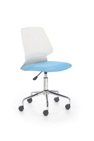 Fotel młodzieżowy Skate biały/niebieski polipropylen/tkanina Halmar