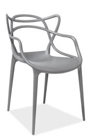 Krzesło toby ciemny szary tworzywo  poliuretanowe (pp) signal