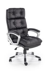 Fotel gabinetowy Stratos czarny eco skóra Halmar