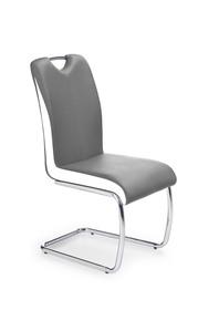 Krzesło K-184 popiel/biały eco skóra/chrom Halmar