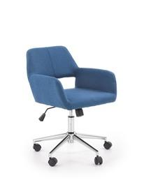 Fotel pracowniczy Morel niebieski tkanina Halmar