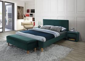 Łóżko sypialniane Azurro 140x200 zieleń velvet signal