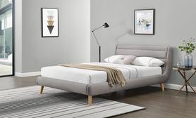 Łóżko sypialniane Elanda 180x200 jasny popiel tkanina/drewno Halmar