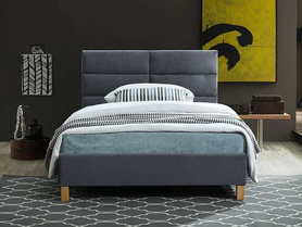 Łóżko sypialniane Sierra 120x200 szary velvet/dąb signal