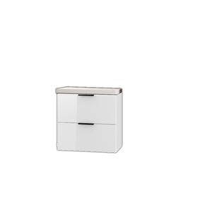 Szafka łazienkowa Lyon z umywalką 64 cm biały połysk