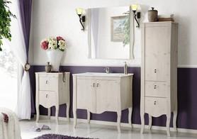 Meble łazienkowe z umywalką 60 cm Elisabeth biel/naturalne drewno