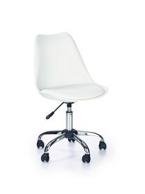 Fotel młodzieżowy Coco biały polipropylen/eco skóra Halmar