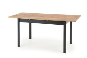 Stół rozkładany Greg 124(168)x74 okleina dąb wotan/czarny halmar