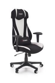 Fotel gabinetowy Abart czarny/biały tkanina/polipropylen Halmar