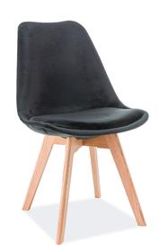 Krzesło Dior czarny velvet/drewno dąb signal