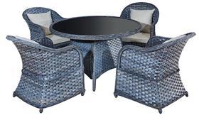 Meble ogrodowe Moderno stół + 4 krzesła technorattan szary