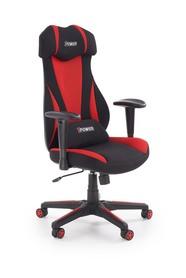 Fotel gabinetowy Abart czarny/czerwony tkanina/polipropylen Halmar