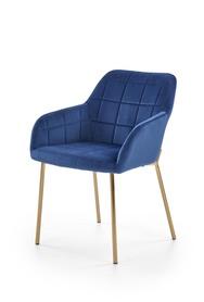 Krzesło K-306 granat/złoty tkanina velvet/chrom Halmar