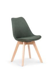 Krzesło K-303 ciemny zielony/buk tkanina/drewno Halmar