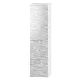 Szafka łazienkowa/słupek Nicea W-35 P biel połysk hologram