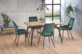 Rozkładany stół Cambell 140(180)x80 dąb/czarny mdf/stal Halmar