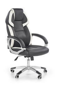 Fotel gabinetowy Barton czarno/biały ekoskóra Halmar