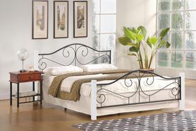 Łóżko sypialniane Violetta 160x200 biały/czarny Halmar