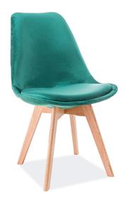 Krzesło dior velvet zieleń/dąb drewno signal